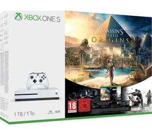MICROSOFT Xbox One S (1TB) with 6 GAMES - Xbox LIVE Gold Membership 3 Month + Wireless Controller - £280 @ Currys