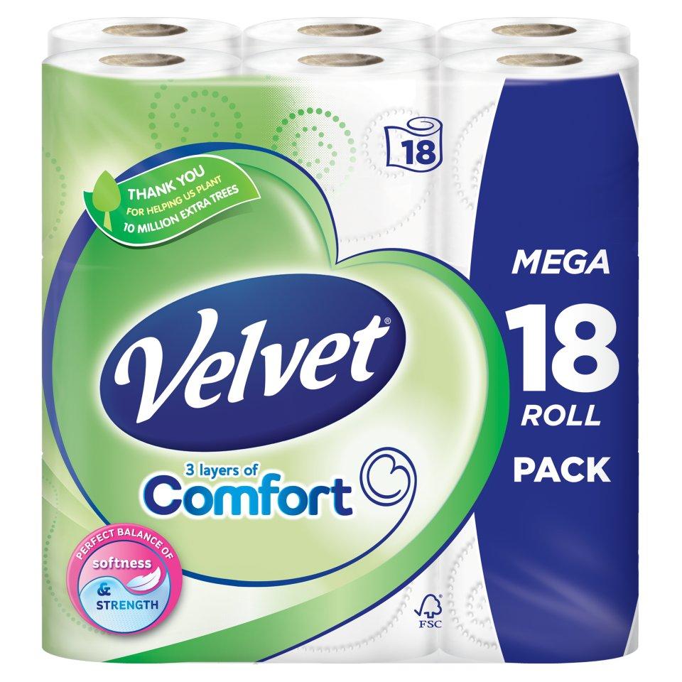 Velvet Comfort 18pk £5 @ Iceland