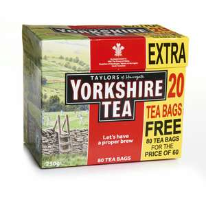 Wilkinsons 80 yorkshire tea bags for £1
