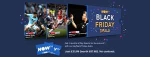 2 Months Sky Sports £33.99 or 12 Months Sky Sports £199.00 Now TV (Plus £10 or £20 via Topcashback)