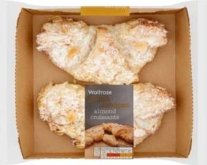 Waitrose Almond Croissants (2 pack) / Lemon & Sultana Danish (2 pack) / Butterscotch Pecan Yum Yums (2 pack)  / Waitrose Lemon Knot Yum Yums (2 pack) was £2.00 now 2 packs for £3.00 @ Waitrosewas £2.00 now 2 packs for £3.00