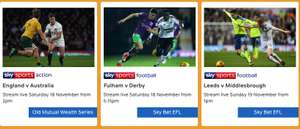 NOW TV Sky Sports Day Pass 15% off - £5.94