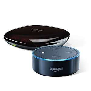 Amazon Echo Dot (2nd Generation), Black + Logitech Harmony Hub at Amazon for £89