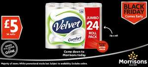 24 roll pack of Velvet Comfort - £5.00 - Morrisons (in-store)