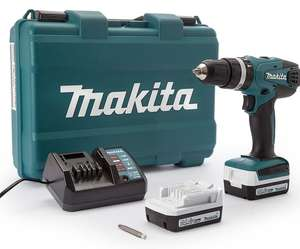 Makita HP347 combi drill 2 batteries at ITS for £71.99