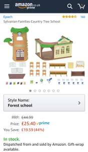 Sylvanian families school Amazon £25.40