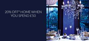 Debenhams Extra 20% Off Home When You Spend £50 - Discount Applied At checkout