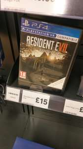 Resident evil 7 biohazard (PS4 & Xbox One) *local Tesco* for £15