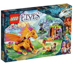 Lego Elves 41175  Fire Dragon Lava Cave £20.34 (RRP £39.99, 49% saving) from Amazon