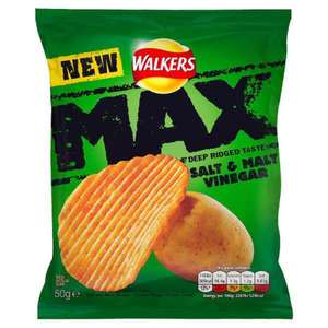 Walkers Max Salt and Malt Vinegar (50g) 20p @Heronfoods ***INSTORE***