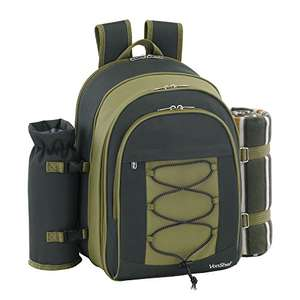 4 Person Deluxe Picnic Backpack Hamper £19.98 @ Domu via Amazon