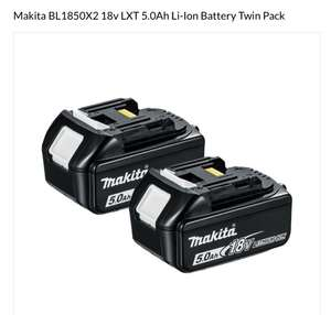Makita battery's 5.0 ah can not find them cheaper - £123 @ Powertoolworld