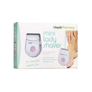 Rechargeable Mini Lady Shaver for £4 with code (save20) Or (BELEC20) plus free collect @ LloydsPharmacy