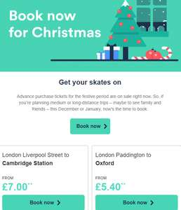 Christmas sale on Trainline