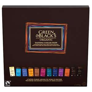 Green & Black's Organic Tasting Collection Boxed Chocolates, 395g - £5.50 @ Amazon Prime (plus P&P non-Prime)