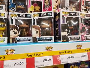 Pop Vinyl £6.66 each instore @ Tesco (3 for 2 deal)