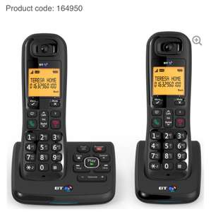 BT XD56 Cordless Phone with Answering Machine - Twin Handsets @ currys was £79.99 now £34.99