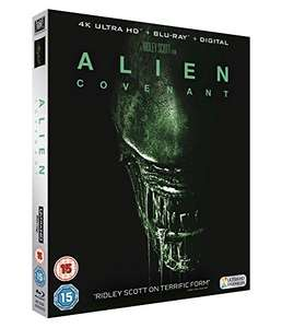 Alien Covenant 4K UHD Blu Ray £12.99 (DVD £6.99) @ Amazon Black Friday (£1.99 postage non Prime)