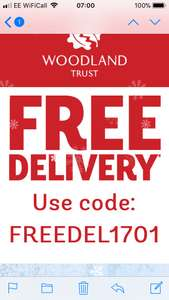 Free delivery on everything woodlands trust