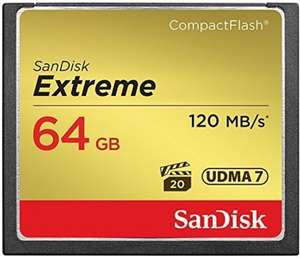 SanDisk Extreme 64 GB UDMA7 CompactFlash Card - Black/Gold for £32.49