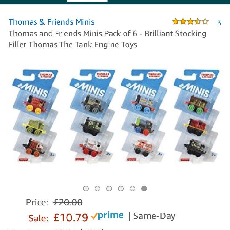 Thomas minis at Amazon for £10.79 Prime (£13.78 non-Prime)