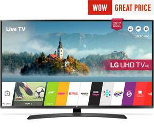 LG 55UJ635V 55 Inch Smart 4K Ultra HD TV with HDR at Argos for £549 (£494.10 with code)