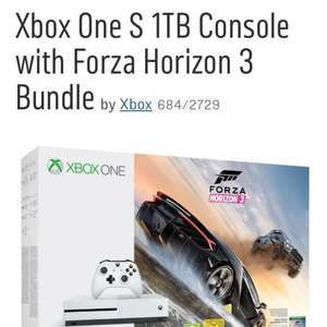 Xbox One S 1TB with Forza Horizon 3, free Forza 7, plus COD WWII or FIFA 18 or Destiny 2 or Battlefront II
