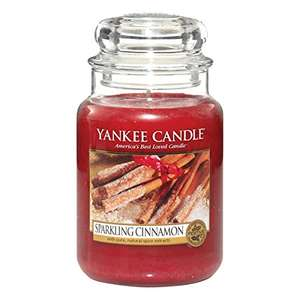 Yankee Candle Sparkling Cinnamon Large Jar at Amazon for £14 (Prime or £17.99 non Prime)
