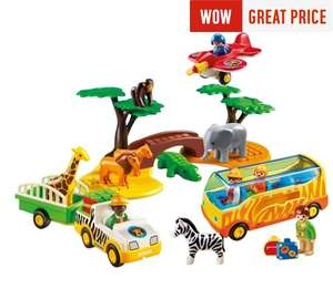 Playmobil 5047 123 Safari Set Now £15.99 with code FLASH20 was £39.99 at Argos