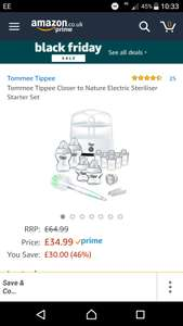 Tommee tippee sterylizer set @ Amazon - £34.99