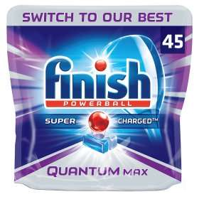 Finish Powerball Super Charged Quantum Dishwasher Tablets (45 pack = 698g) was £10.00 now £7.00 (Rollback Deal) @ Asda