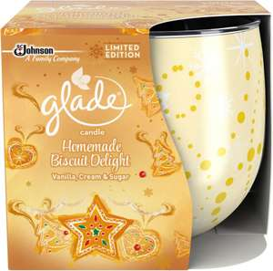 Glade Candle Honey and Chocolate (120g) / Glade Candle Apple Cinnamon and Nutmeg (120g) / Glade Medium Candle - Homemade Biscuit Delight Limited Edition was £5.00 now £1.75 @ Wilko