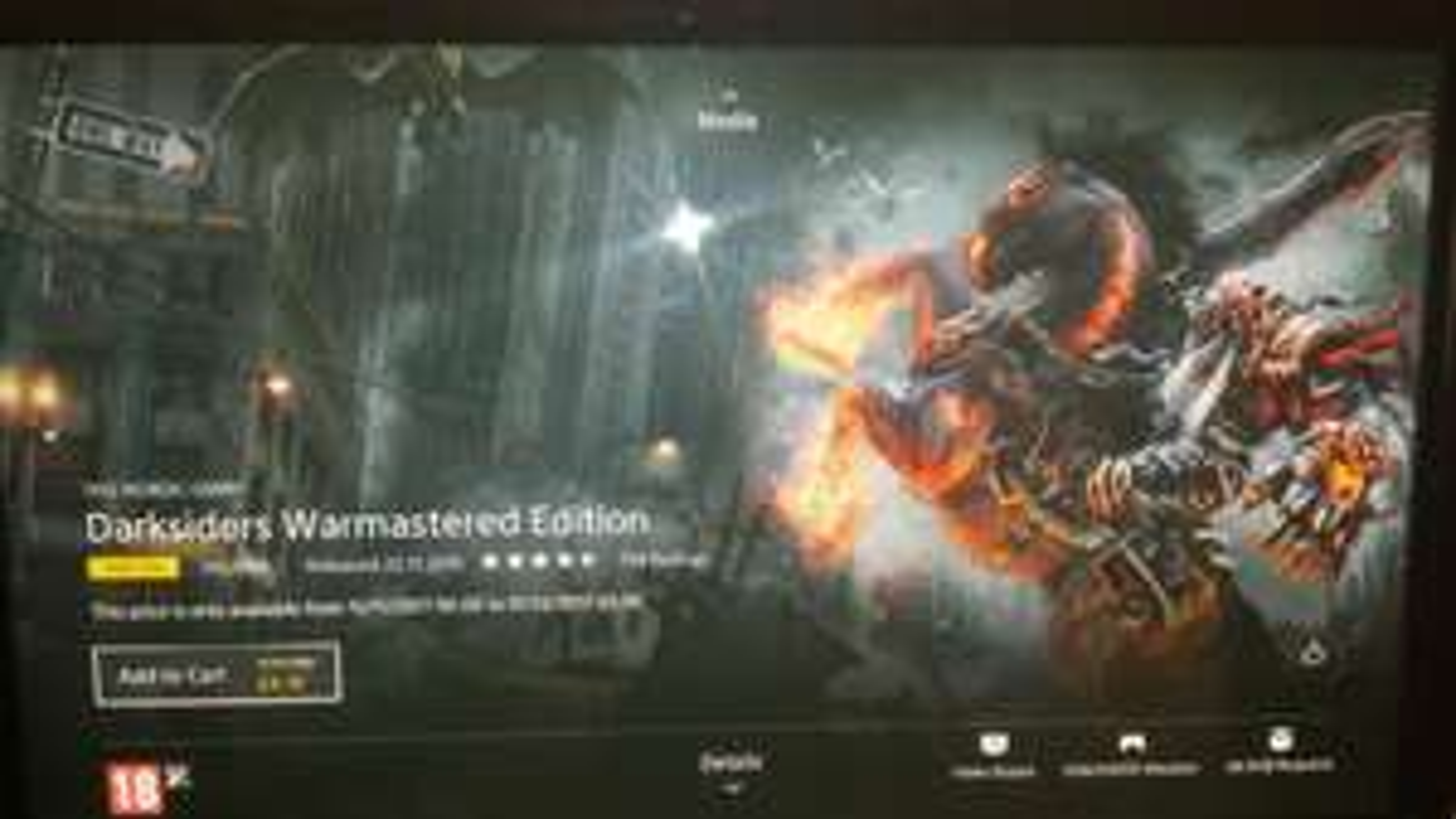 Darksiders Warmastered Edition PS4 - £4.79 @ PSN