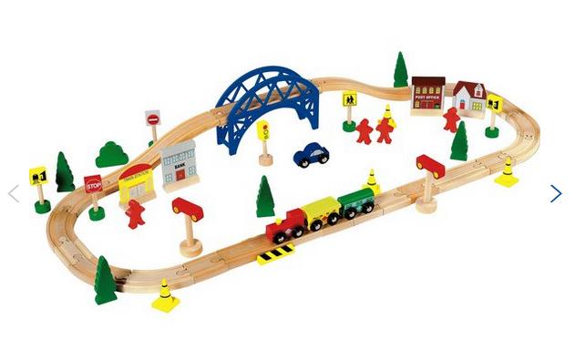 Chad Valley Wooden Train Set - 60 Piece - Argos - £8.49 (C&C)