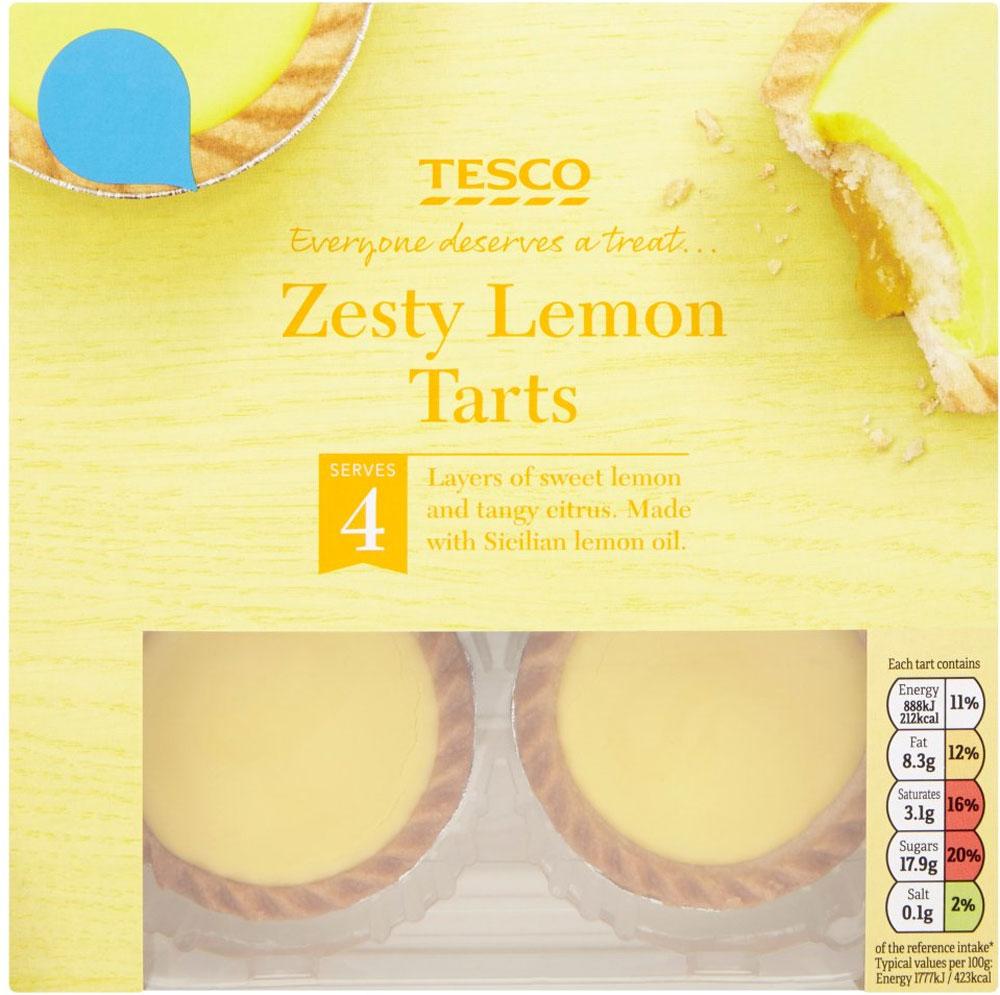 Tesco Black Forest Tarts 4 Pack / Blackcurrant Sundae Tarts / Tesco Zesty Lemon Tarts (4) ONLY £1.00 @ Tesco