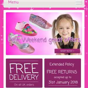 The sparkle club - pink shoes offers (many half price) and some good sale bits + free delivery until 19th November.