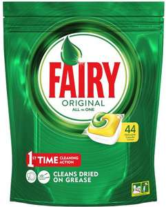 Fairy Original All In One Lemon Dishwasher Tablets (44 pack) was £9.00 now £6.00 (Rollback Deal) @ Asda
