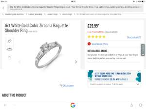 Pretty ring white gold and cubic zirconia argos £29.99