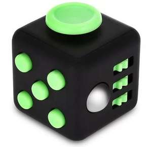 ABS Stress Reliever Fidget Magic Cube (Black / Green) only 65p delivered @ Gearbest