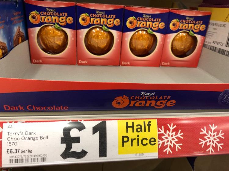 Terry's Chocolate Orange - Dark Choc - Tesco - Online & Instore - £1