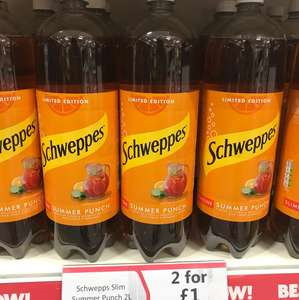 Schweppes Summer Punch 2 Litres, @ Heron in store for 59p