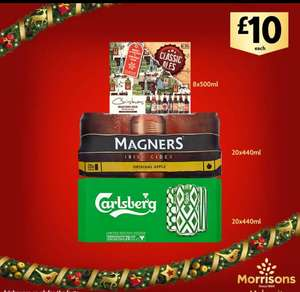 20 cans of 440ml Carlsberg and 8 x 500ml bottles of ale £10 each - part of Black Five Days @ Morrisons