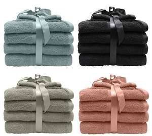 6 Piece 100% cotton Towel Bale available in 4 different colours £8.40 reduced from £12 C+C @ Dunhelm
