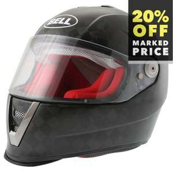 Bell M6 carbon full face motorcycle helmet £319.99 @ JS