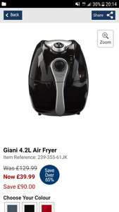 Giani 4.2L Air Fryer £39.99 + delivery @ Studio