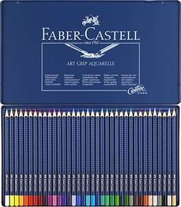 Faber-Castell Art Grip Aquarelle Pencils Tin 36 Pencils £11.75 Prime Exclusive @ Amazon