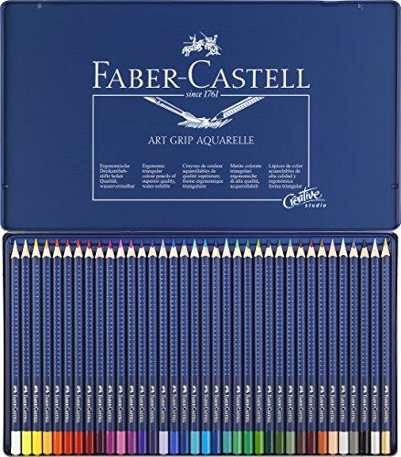 Faber-Castell Art Grip Aquarelle Pencils Tin 36 Pencils £11.75 Prime Exclusive @ Amazon