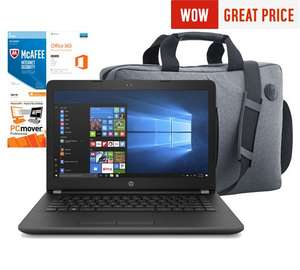 HP 14 Inch Intel Pentium 4GB 128GB SSD Laptop Bundle at Argos for £279