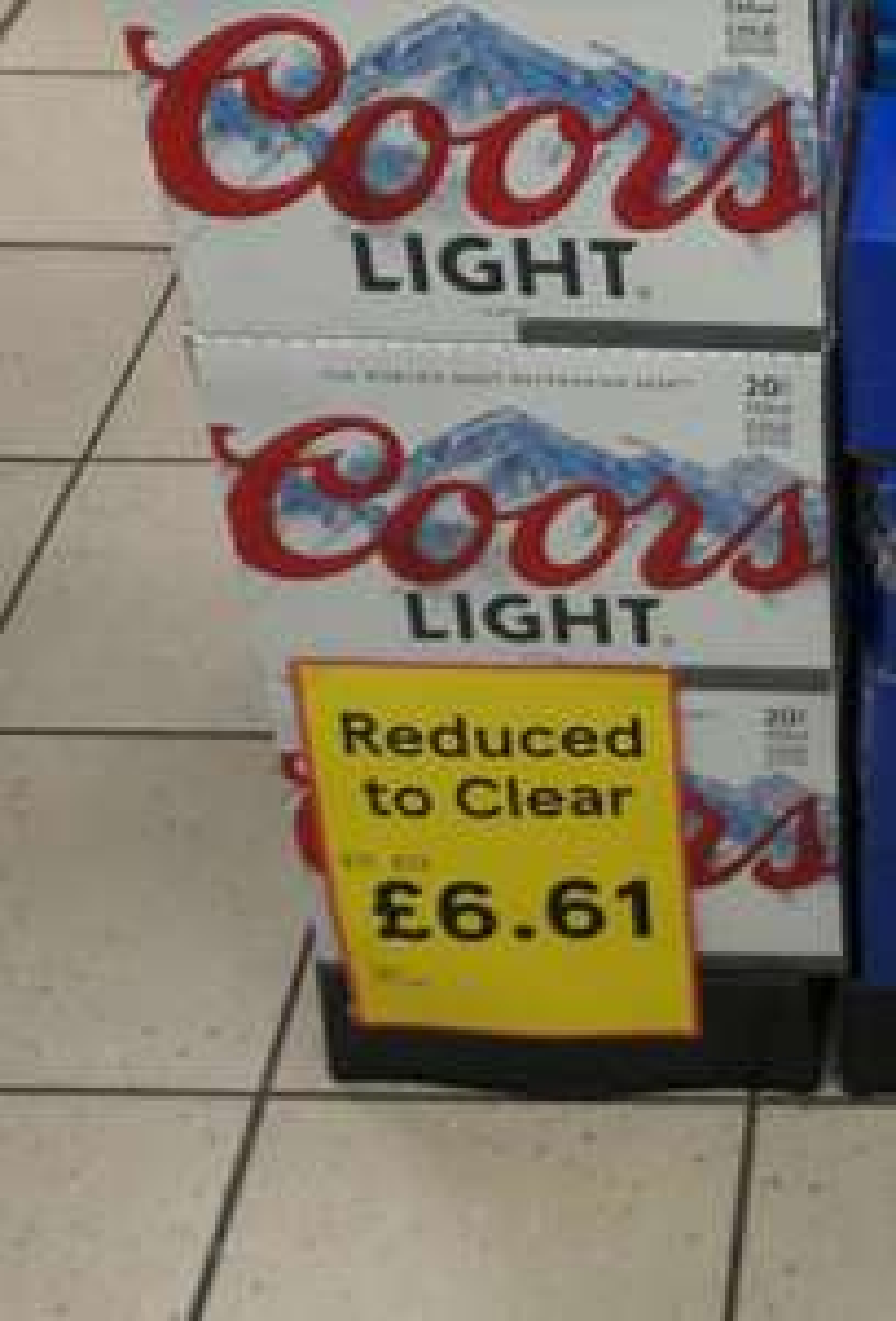 Coors Light 20 X 330Ml £6.61 instore @ Tesco George Street CR0