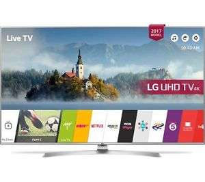 "LG 43UJ701V 43"" Smart 4K Ultra HD HDR 10 LED TV - Silver £399 @ Currys PC WORLD ON EBAY (£359.10 after Quidco 10 % cashback £39.90 TODAY ONLY!)"